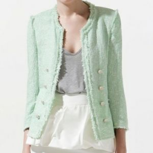 Zara tweed jacket m